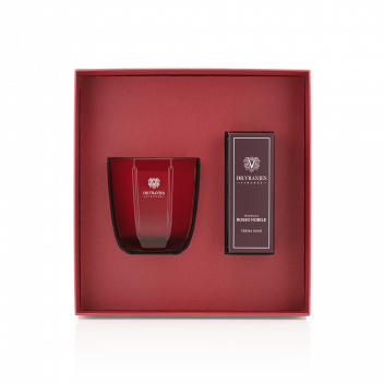 Gift Box Rosso Nobile Candela 200 gr + Crema Mani 50 ml